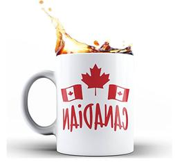 Canada Canadian Maple Leaf Flag Coffee Mug Tea Cup Gift Nove