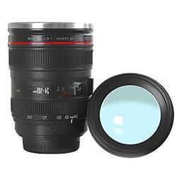 Wrcibor Coffee Mug with Transparent Lid Camera Lens Cup Stai