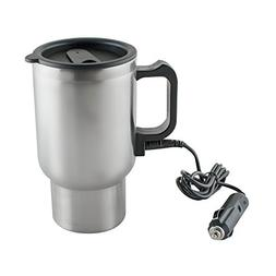Pevor 12V Car Heating Cup Bottle 450ml Stainless Steel Coffe