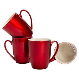 Cardinal Red Glossy Finish 10 ounce New Bone China Coffee Cu