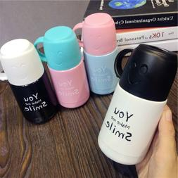 Cartoon thermos stainless steel mug cup with handle coffee m