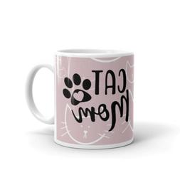 Cat Mom For Lover Funny Coffee Tea Ceramic Mug Office Work C