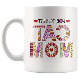 Cat Mom Mugs - Super Cute Cat Ceramic Mug - Funny Kitty Coff