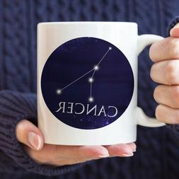 Celestial Cancer Constellation Coffee Mug Microwave And Dish