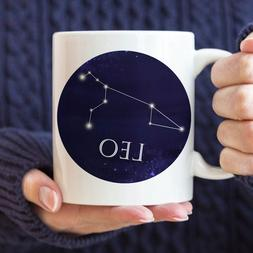 Celestial Leo Constellation Coffee Mug Microwave And Dishwas