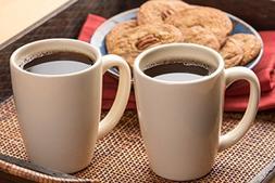 American Mug Pottery Ceramic Bistro Style Coffee Mug, Made i