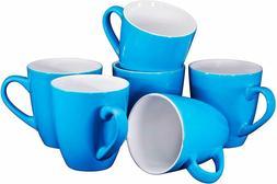 Bruntmor Ceramic Coffee Cups Mugs Set of 6 Large sized 16 Oz