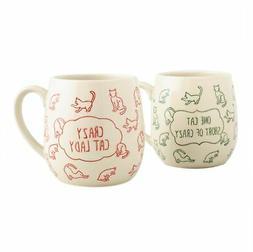 Ceramic Crazy Cat Lady Stoneware Bundle - Large Coffee Mug 1