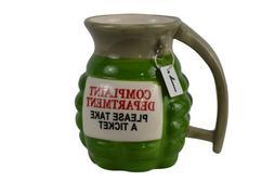 Ceramic Novelty Grenade Coffee Mug Prank Gun Military Party
