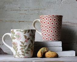 Ceramic Tea Coffee Mugs Set of 2 Studio Pottery Cup Vivaciou