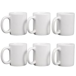 Creative Home 85355 Set of 6 Piece, 12 oz Ceramic Coffee Mug