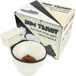 Ceramic Toilet Coffee Tea Mug - Gag Gift Novelty Cup Bowl No