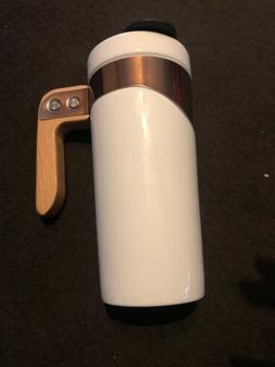 Ello Ceramic Travel Mug Wooden Handle Coffee Mug Tea Cup Bla