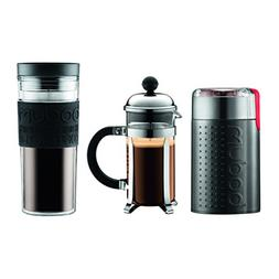 Bodum Chambord Set, French Press 3 Cup Coffee Maker, Electri