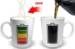 Color Changing Battery Charging Heat Sensitive Mug / Cup