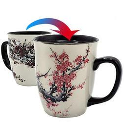 Asmwo Color Changing Heat Sensitive Magic Funny Art Mug Larg