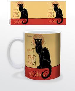 CHAT NOIR 11 OZ COFFEE MUG PARIS FRENCH CAT ENTERTAINMENT TH