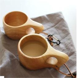 Handmade Wood Coffee Cup Wooden Drinking Cup Camping Portbal