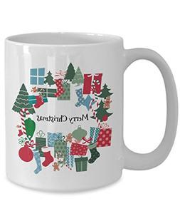 Christmas Coffee Mug - Merry Christmas - colorful ceramic co