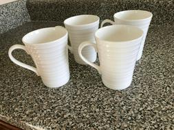 MIKASA Ciara Bone China Set of 4 Coffee Cups/Mugs, White, 4