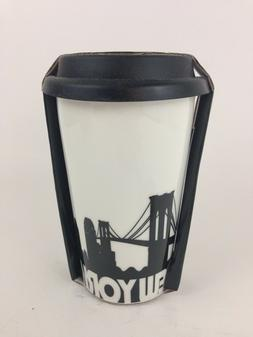 Ciroa Double Walled Porcelain Ceramic Travel Mug NEW YORK CI