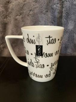 CIROA fine Bone China Eat, Drink & Be Merry Tea Coffee Cup S