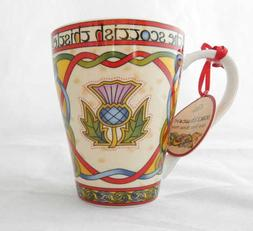 Clara Craft Scottish Thistle Celtic Bone China Mug New