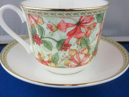 CLASSIC HONEYSUCKLE FINE BONE CHINA  BREAKFAST CUP SAUCER KI