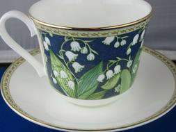 CLASSIC LILY VALLEY FINE BONE CHINA  BREAKFAST CUP SAUCER KI