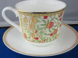 CLASSIC POMEGRANATE FINE BONE CHINA  BREAKFAST CUP SAUCER KI