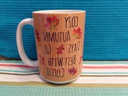 Classic Seasonal Coffee Mug 11oz or 15oz - Cozy Autumn Days