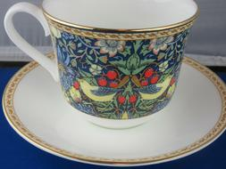 CLASSIC STRAWBERRY FINE BONE CHINA  BREAKFAST CUP SAUCER KIR