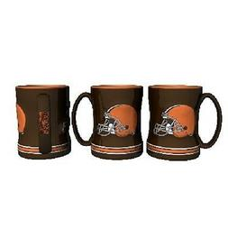 Cleveland Browns Coffee Mug Relief Sculpted Team Color Logo