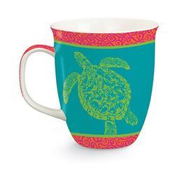 Coastal Clear Sea Turtle Bone China 16 Oz Coffee Latte Tea H
