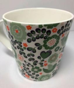 STECHCOL COASTLINE IMPORTS GRACIE BONE CHINA COFFEE MUG Gree