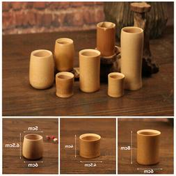 Coffee Bamboo Cup Milk Safe Log Color Handmade Natural Wood