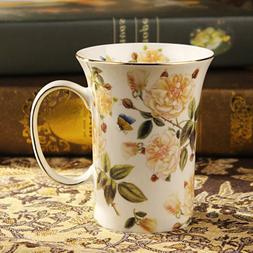 Coffee Cup Holiday gifts for lovers Red/white roses and othe