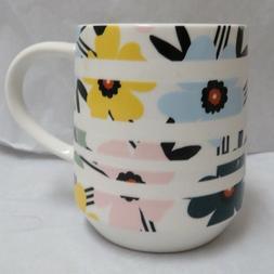 Starbucks Coffee Cup/Mug 12 Oz. Banded Floral Design Ceramic