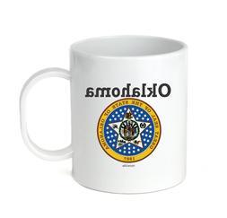 Coffee Cup Mug Travel 11 15 oz USA State Seal Oklahoma Big