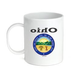 Coffee Cup Mug Travel 11 15 oz USA State Seal Ohio Big