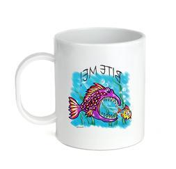 Coffee Cup Mug Travel 11 15 Oz Big Fish Little Fish Bite Me