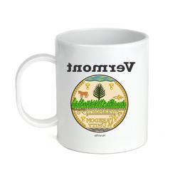 Coffee Cup Mug Travel 11 15 oz USA State Seal Vermont Big