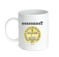 Coffee Cup Mug Travel 11 15 oz USA State Seal Tennessee Big