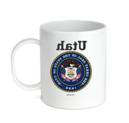 Coffee Cup Mug Travel 11 15 oz USA State Seal Utah Big