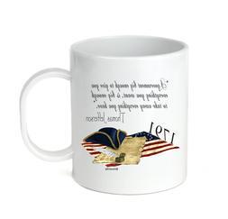 Coffee Cup Mug Travel 11 15 Thomas Jefferson A Government Bi