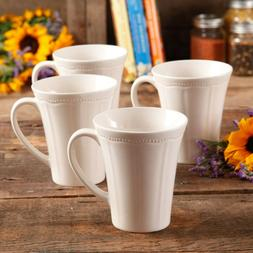New Pioneer Woman Coffee Cups Red 4 Piece Mug Set 14 OZ Tea