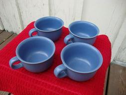 Dansk Coffee Cups Set Of Four Mesa Blue Flat Mugs Tea