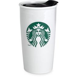 Starbucks Coffee Double Wall Ceramic Travel Mug Cup, 12 oz