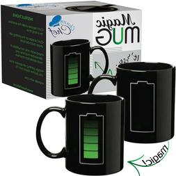 Coffee Magic Mug - Color Changing Heat Sensitive - Battery M