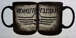 Harley-Davidson Coffee Mug, Willie G Skull 15 oz. Gray & Bla